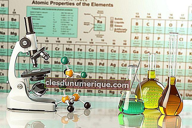 Tabla periódica de elementos químicos, completa con leyendas e imágenes