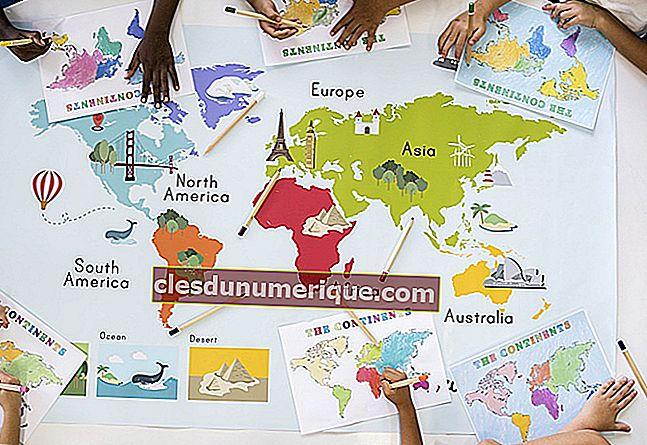 Connaître les 7 continents du monde