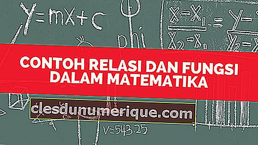 Exemples de relations et de fonctions en mathématiques