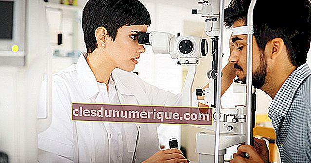 Três defeitos comuns de visão nos olhos